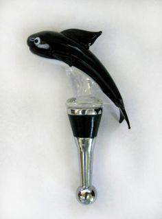 Whale LSArts Wine Bottle Stopper