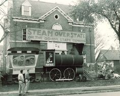 """1954 University of Minnesota Sigma Nu House featuring the Homecoming slogan, """"Steam over State."""""""