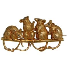 19th Century Boxed Mouse Brooch by Child and Child | 1stdibs.com