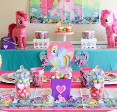My Little Pony Perfection! @sweetlychicevents Designed a perfect pony party for a magical birthday celebration. Get all the details, click the link. #mylittlepony #mylittleponybirthdayparty #birthdaypartyideas #girlbirthdaypartyideas #orientaltrading