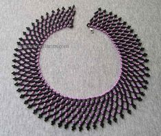 Bead Made Easy Evening Necklace - Bead Jewellery, Seed Bead Jewelry, Jewelry Making Beads, Macrame Bracelet Patterns, Beaded Jewelry Patterns, Macrame Bracelets, How To Make Necklaces, How To Make Beads, Seed Bead Necklace