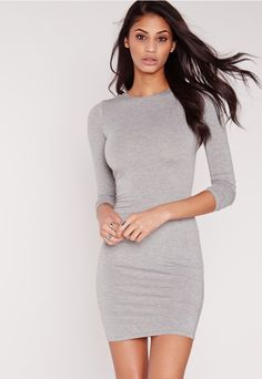 Basic essentials should be the foundation of your wardrobe, so feast your eyes on this bodycon dress. In a sexy shade of grey, jersey…