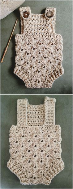 Hottest Free Crochet baby girl clothes Style The Cutest Ever Crochet Baby Romper Pattern Ideas Crochet Romper, Baby Ruffle Romper, Baby Romper Pattern, Crochet Baby Clothes, Cute Crochet, Knitted Baby Romper, Crochet Baby Outfits, Baby Dress, Baby Rompers