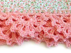 baby blanket with crochet edging - Google-søk