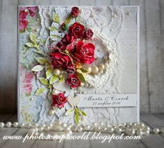 http://photoscrapworld.blogspot.com/2016/09/slubny-kompletwedding-set.html #handmade card #scrapbooking #female card #wedding #wedding card