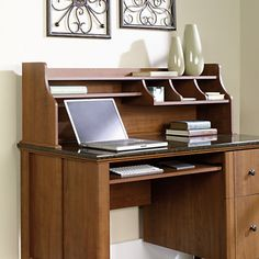 Sauder Appleton Hutch For Computer Desk 16 x 52 18 x 11 25 Sand Pear by Office Depot & OfficeMax - Ebony Pittman Diy Computer Desk, Office Desk, Buy Office, Furniture Deals, Cool Furniture, Office Furniture, Home Office Accessories, Accessories Online, Buy Desk