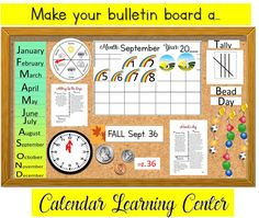 62 pages of:  -Full, easy Instructions.  -Ready to print  -Editable for personalization  -Some prep throughout school year required (e.i, students artwork)   Get your Calendar Center started today!