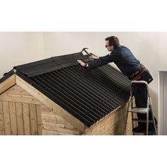 Coroline Black Corrugated Bitumen Roof Sheet - 2m at Homebase.co.uk