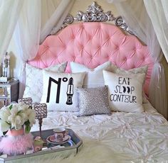 Bedroom Design And Decoration Tips And Ideas - Top Style Decor Dream Rooms, Dream Bedroom, Girls Bedroom, Bedroom Decor, Bedroom Ideas, Bedrooms, Master Bedroom, Warm Bedroom, Bedroom Designs