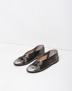 Marsèll Coltellaccio Metallic Slipper in Platinum