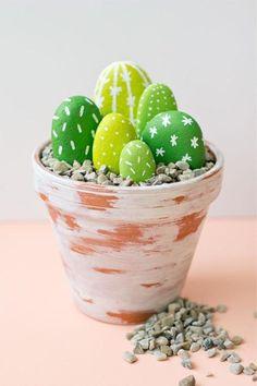 CUTE! DIY Rock Cacti!  http://www.flyingburritobrothers.co.nz