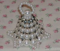 quochet beaded  bell pattern | Seed Bead Christmas Ornament Patterns