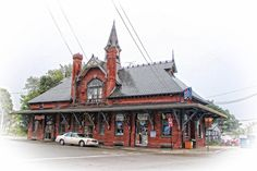 Taken in Leominster, Massachusetts, USA. The Leominster Train Station was built in 1878 by the Boston, Clinton & Fitchburg RR. Passenger service ended in 1928. It is currently used for commercial purposes.