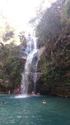 Cachoeira Santa Bárbara - Cavalcante - GO - Brasil