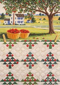 "I love this block. I have drafted a pattern - now all I have to do is make some! ""Apple Tree"" Quiltscape by Rebecca Barker"