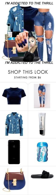 """1:23 AM"" by littydee ❤ liked on Polyvore featuring Boohoo, Bobbi Brown Cosmetics, HUF, Chloé and Puma"