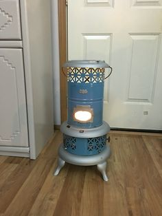 Kerosene PERFECTION heater Blue porcelain enamel.