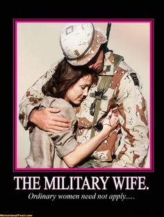 Behind every soldier. . .