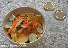 Gemüsebrühe ganz leicht selbst gemacht   ♥Zuckersüße Äpfel - kreativer Familienblog♥ Fruit Salad, Cantaloupe, Food And Drink, Catania, Recipies, Fruit And Veg, Apple, Food And Drinks, Health