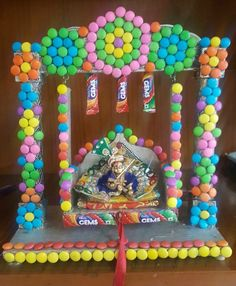 Chocolate Diy Gifts Friends New Ideas Diwali Decorations, Festival Decorations, Balloon Decorations, Christmas Decorations, Hanging Decorations, Janamashtami Decoration Ideas, Ganpati Decoration Design, Janmashtami Decoration, Chocolate Gifts