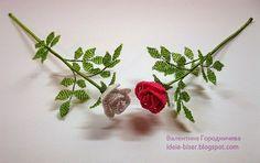 Бисероплетение для начинающих: Маленькая роза из бисера
