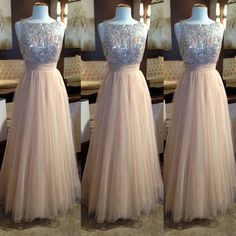 Tulle Prom Dresses,Charming Prom Dresses,A-line Prom Dress,Long Prom Dress, 2016…