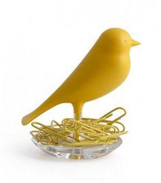 Porte trombones oiseau jaune ça sent bon le #printemps