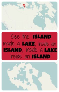 If you're looking for fun geography facts or maps of the world, check out this tiny island in northern Canada