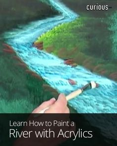 A river is a majestic part of a landscape. Learn how to use acrylics to paint the water, rocks, foliage, and natural motion of a beautiful river scene.