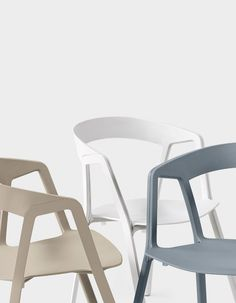 Stackable polypropylene #chair COMPAS by Kristalia | #design Patrick Norguet…
