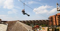 Erin and I rode the zip line that is 5 stories high across Kalahari. It was so much fun!