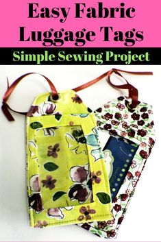 How to Sew DIY Luggage Tags last updated on june 14, 2018 by sewverycrafty. These would be quick, fundraisers - sew in doggy fabrics for rescue volunteers.