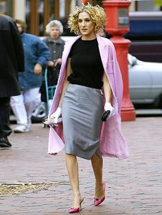 fall street style, Carrie Bradshaw style, sarah jessica parker best looks, sex and the city outfits, Carrie Bradshaw Outfits, Carrie Bradshaw Estilo, Sarah Jessica Parker, City Outfits, Trends, City Style, Fashion Week, City Fashion, Street Fashion