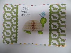 Turtle shell made by #CarleneT using #DevraParty vintage ivory honeycomb popup paper #HoneycombCrafts