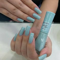 What manicure for what kind of nails? - My Nails Gel Uv Nails, Aycrlic Nails, Blue Nails, Manicure And Pedicure, Hair And Nails, Summer Acrylic Nails, Best Acrylic Nails, Summer Nails, Nail Paint Shades