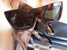f348d1ce6f40 Céline Havana Brown Geo Square Sunglasses 29% off retail
