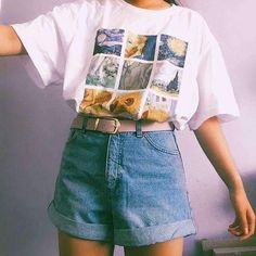 Van gogh paintings grid tee source by vintage kadn gmlek modelleri her gne bir yudum bilgi source by flamingopembe gmlek kadinevcom modelleri oduncu vintage outfits Tumblr Outfits, Outfits 90s, 90s Outfit, Indie Outfits, Cute Casual Outfits, Retro Outfits, Fashion Outfits, 80s Inspired Outfits, Artsy Outfits