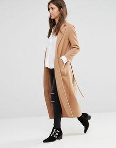 Boohoo | Boohoo Longline Belted Tailored Coat