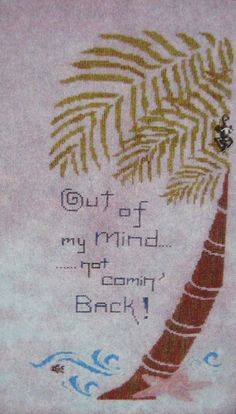 Michelle Ink Cross Stitch Pattern Chart Gone Out of My Mind Palm Tree + Charms #MichelleInkStitchingPretty #Frame