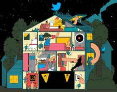 An illustration for the December issue of Wired Magazine, for an article on smart houses. Artwork by Chris Martin