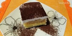 Jablkový zákusok s kyslou smotanou (fotorecept) - recept | Varecha.sk Tiramisu, Food And Drink, Treats, Ethnic Recipes, Sweet, Basket, Sweet Like Candy, Candy, Goodies