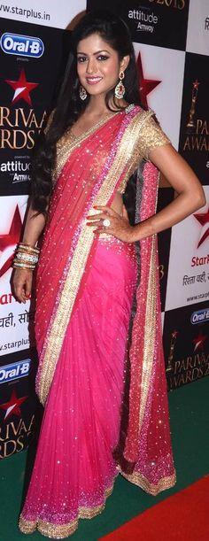 Poonam aka Ishita Dutta from 'Ek Ghar Banauga' at the Star Parivaar Awards 2013 #Bollywood #Fashion