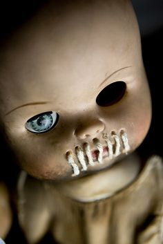 "Creepy Doll Art---This reminds me of Sid's toys in ""Toy Story"""