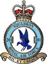 No. 201 Squadron of the Royal Air Force, until March 2010, operated the Nimrod MR2, based at RAF Kinloss, Moray. It is the only squadron affiliated with Guernsey, in the Channel Islands. This affiliation started in 1935 and is commemorated in the museum on Castle Cornet. Its history goes even further back than the RAF itself, being formed originally as No. 1 Squadron RNAS on 17 Oct 1914.