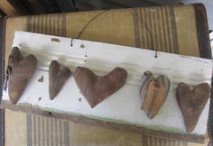 Primitive Sign Rustic Hearts Handmade Wall by SweetLibertyBarn, $25.00