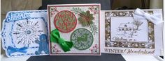 Cards made using Tonic dies, creative expressions dies, hobby art stamps and Phill Martin Sentimentally Yours Stamps