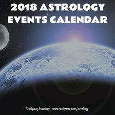 Below is a list of astrological events occurring in 2018, broken down by month. Retrograde periods for the planets shown first, including retrograde shadow period times for Mercury to Jupiter. All times Central Standard Time (CST). Mercury Retrogrades: March 22 (16° Aries 54′) to April 15 (04° Aries 46′) (shadow period from 8 March to 3 May 2018) July 26 (23° Leo …