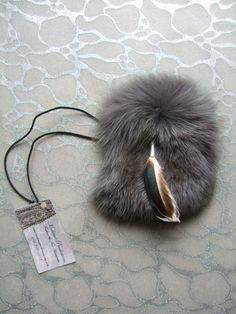 Feather and Fur Pouch / Medicine Bag  by medicineproductions