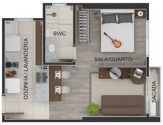 Planta humanizada apartamento