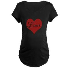Red Heart with Love Maternity Dark T-Shirt Red Heart with Love Maternity T-Shirt by klaird - CafePress Cute Valentines Day Gifts, Color Combinations, Shirt Designs, Maternity, Love, Dark, Red, T Shirt, Shopping